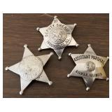 3 Genuine Antique Illinois Sheriff Badges