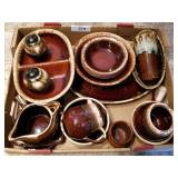 Hull Brown Drip Dish Set, Many Serving Pieces