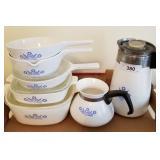 Corning Ware Blue Cornflower Dishes & Coffee Pots