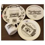 Gilman Illinois Souvenir Dishes