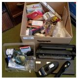 Huge Box of Office and Desk Supplies