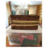 Tote & Large Basket of Christmas Bags & Ribbon, et