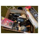 Box of Electronics incl. Motorola Walkie Talkies