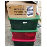 3 Storage Totes Full of Christmas Deco & Supplies