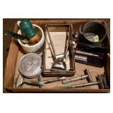 Large Box Lot of Antique Shaving Gear, Razors, etc
