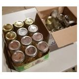 2 Boxes of Small Fruit Jars w/Lids