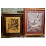 Two Framed Graphics