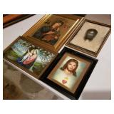 Four Framed Religious Prints