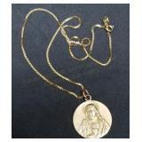 14K Gold Chain & 10K Gold Pendant Necklace 8.5g
