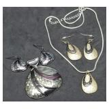 Two Lia Sophia Pendant & Earring Sets