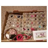 Huge Lot of Estate Jewelry - Earrings, Brooches, e