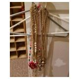 Large Lot of Gold Tone Chains & Necklaces