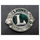 Lions International Enameled Belt Buckle