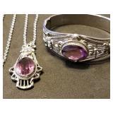 Whiting & Davis Matching Necklace & Bracelet
