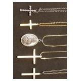 Group of Religious Necklaces, Crosses, etc.