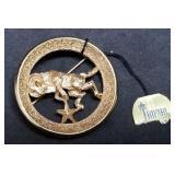 Trifari Aries Zodiac Brooch/Pin