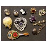 Group of 11 Estate Pins & Brooches