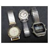 3 Mens Wrist Watches: Armitron, Revere, Aquatech