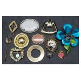 Group of 12 Estate Pins & Brooches