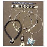 Butterfly Choker, Bead Bracelet, Necklaces
