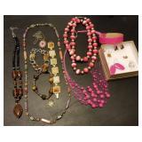 Group of Estate Jewelry Necklace, Bracelet, Earrin