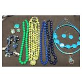 Group of Blue & Green Family Estate Jewelry