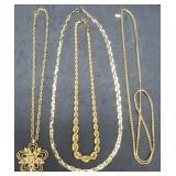 3 Monet & 1 Trifari Estate Necklaces