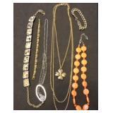 4 Estate Necklaces & 2 Bracelets incl. Trifari