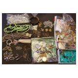 Huge Lot of Estate Jewelry, Largely Unsorted