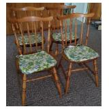 Set of 4 Maple Dining Chairs