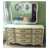 9 Drawer Mirrored Dresser