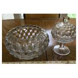 American Fostoria Bowl and Covered Candy Dish
