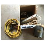 Jumper Cables, Extension Cords, Motor