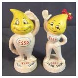ESSO Cast Iron Advertising Herr& Frau Oil Banks