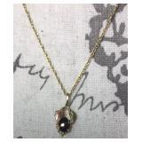 10kt Gold Black Hills Opal Necklace