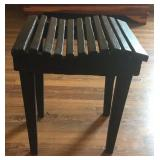 Handmade Black Primitive Small Wooden Table/Bench