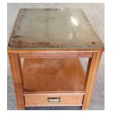 Glass top Wooden End Table