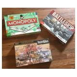 Axis Allies, Battleship, Monopoly Games