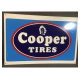 New Metal Cooper Tires Sign