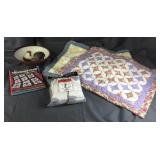 Bowl, Quilt Pillow Cases, New Socks, Book