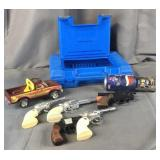 LEGO Case with Cap Guns & Toy Vehicles