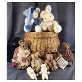 Basket Full Of Stuffed Animals