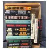 Crate Full Of David Morrell Hardback Books