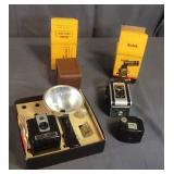 Kodak Duaflex Camera, Field Case, Brownie Camera