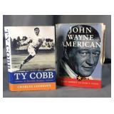 2 Books on Ty Cobb & John Wayne
