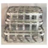 New Graduated Galvanized Metal Baskets