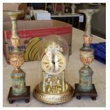 Anniversary Clock and 2 Candelabra