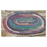 2ft. Braided Colorful Rug