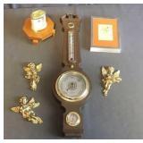 Barometer, Cherubs, Clock, Picture