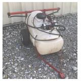 Husky Sprayer on Trailer/cart